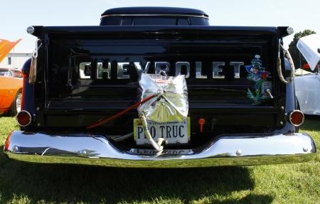 HAMPTON, VA-JUNE 9:A Chevy Pro Truck at the 3rd annual HCS car show at the Hampton Christian School in Hampton Virginia, 2012 in Hampton Virginia on June 9, 2012.
