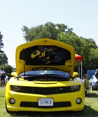 HAMPTON, VA-JUNE 9:A Yellow Chevy Camaro at the 3rd annual HCS car show at the Hampton Christian School in Hampton Virginia, 2012 in Hampton Virginia on June 9, 2012.