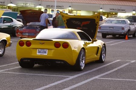 GLOUCESTER, VA, USA - OCTOBER 14: A Chevy Corvette Z06 at the Middle Peninsula Classic Cruisers Club weekly Car Show. Main Street Center. on October 14, 2011 in Gloucester, VA, USA