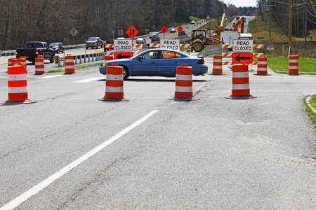 GLOUCESTER, VA, USA - MARCH 16:The bridge replacement project over the ware river on Main Street. on March 16, 2012 in Gloucester, VA, USA