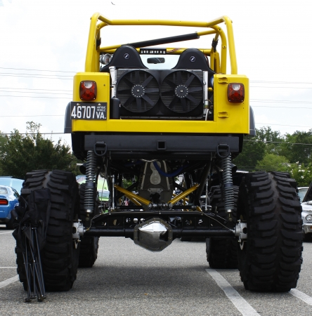 GLOUCESTER, VA- JULY 14:A modified Jeep Wrangler at the Annual Blast from the past car show at the Main St shopping center in Gloucester, Virginia on July 14, 2012.