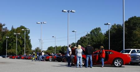 GLOUCESTER, VA- OCTOBER 13:Camaros & Corvettes at the Ken Houtz Chevrolet Buick, Camaro VS Corvette Humane Society car show and food drive in Gloucester, Virginia on October 13, 2012