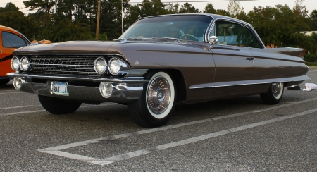 GLOUCESTER, VA- OCTOBER 12:A 1961 Cadillac at the 29th Annual 2012 MPCC(middle peninsula car club)meeting at the Main St shopping center in Gloucester, Virginia on October 12, 2012