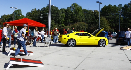 GLOUCESTER, VA- OCTOBER 13:Cornhole toss at the Ken Houtz Chevrolet Buick, Camaro VS Corvette Humane Society car show and food drive in Gloucester, Virginia on October 13, 2012 Stock Photo - 15744811