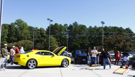 GLOUCESTER, VA- OCTOBER 13:Cornhole toss at the Ken Houtz Chevrolet Buick, Camaro VS Corvette Humane Society car show and food drive in Gloucester, Virginia on October 13, 2012 Editorial