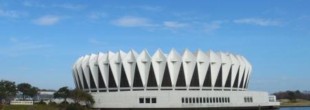 The Hampton Coliseum event arena located in Hampton Virginia