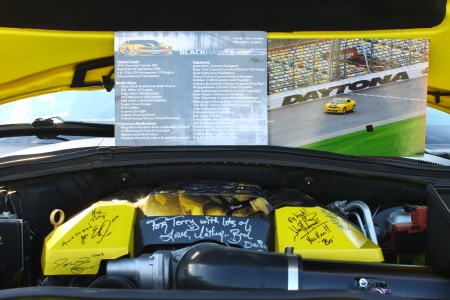 GLOUCESTER, VA- APRIL 12:BLKHWK6 Camaro specs and signatures in the 2nd Annual 2013 MPCC(middle peninsula car club)meeting at the Main St shopping center in Gloucester, Virginia on April 12, 2013