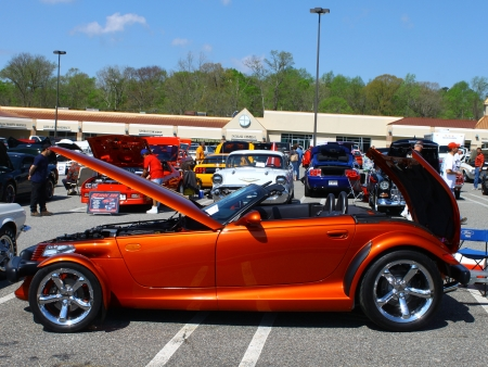 prowler: GLOUCESTER, VA- APRIL 13:A Prowler in the Daffodil car show sponsored by the MPCC(middle peninsula car club)at the Main St shopping center in Gloucester, Virginia on April 13, 2013