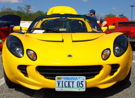 GLOUCESTER, VA- APRIL 13:05 Lotus Elise in the Daffodil car show sponsored by the MPCC(middle peninsula car club)at the Main St shopping center in Gloucester, Virginia on April 13, 2013 Stock Photo - 19235660