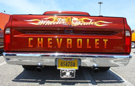 GLOUCESTER, VA- MAY 25: Chevrolet PU Tailgate in the (middle peninsula car club) relay for life car show at the Main St shopping center in Gloucester, Virginia on May 25, 2013