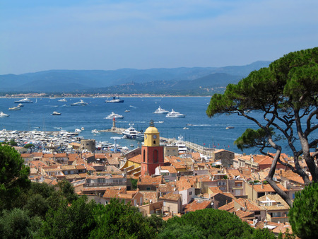 Beautiful View from The Citadel of Saint-Tropez, France  Panorama Saint Tropez, France