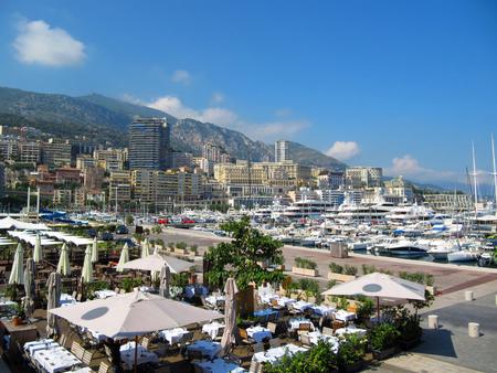 dreams of city: Monaco, The Place of Dreams  View of the City of Monaco Stock Photo