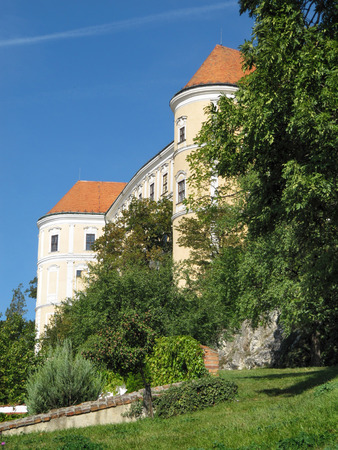 moravia: Picture of Mikulov Castle Taken from the Garden, South Moravia, Czech Republic