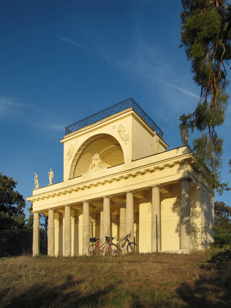 Lednice - Valtice, Czech Republic - September 29, 2011: Beautiful Apollo Temple in Lednice Valtice complex, South Moravia