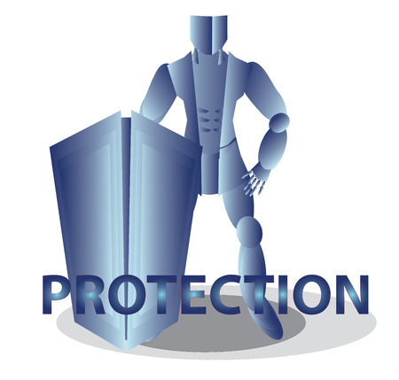 Internet security with word Protection photo