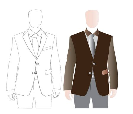 attire: Vector illustration of Corporate Attire For Men