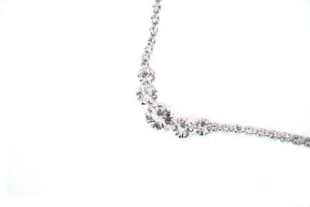 line lines luxury meeting: Beautiful necklace with stones isolated on the white.