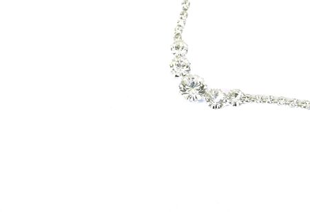 Beautiful necklace with stones isolated on the white. Stock Photo - 1398621