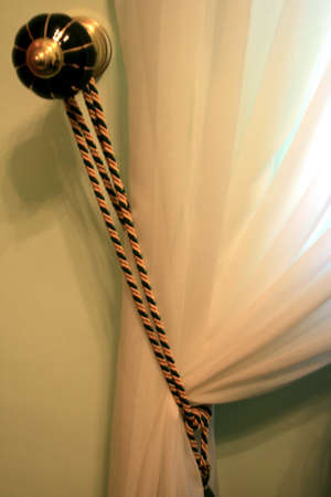 The picture of curtain detail at home. photo