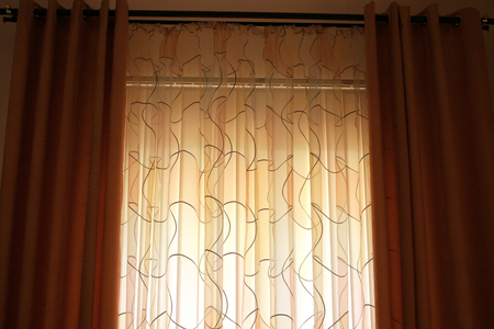 curtain window: The picture of luxurious curtains at home.