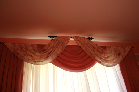 The picture of luxurious curtains at home. Stock Photo - 1683315