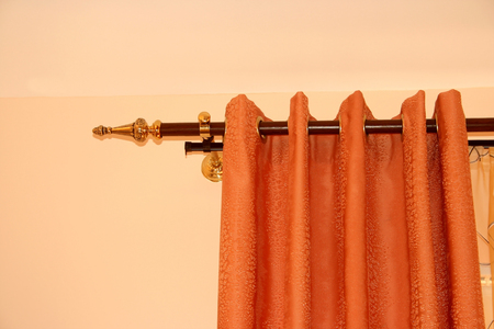 The picture of luxurious curtain at home. photo