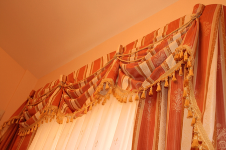 The picture of luxurious curtains at home. Stock Photo - 1695198