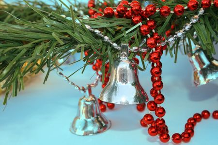 silvery: Christmas ornaments of still and happy life.