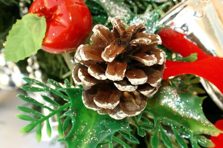Christmas ornaments of still and happy life. Stock Photo - 1796177