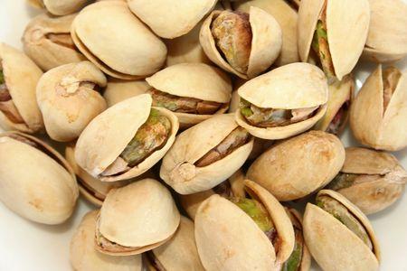 pista: Excellent tasty salted pistachio nuts.Nice snack. Stock Photo
