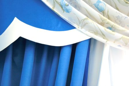 The picture of luxuus curtains details at home. Stock Photo - 2410011
