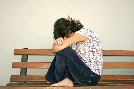 Sad day for a young girl. Stock Photo - 2616045