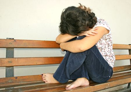 Sad day of a young girl. Stock Photo - 2616032