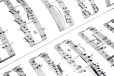 sheetmusic: High contrast music notes sheet.