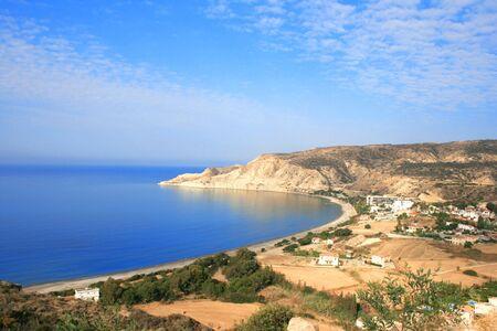 Pissouri bay in Cyprus.Beautiful beach.