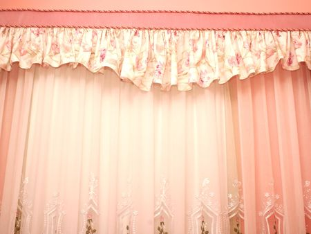 Picture of luxuus curtains at home. Stock Photo - 4681909