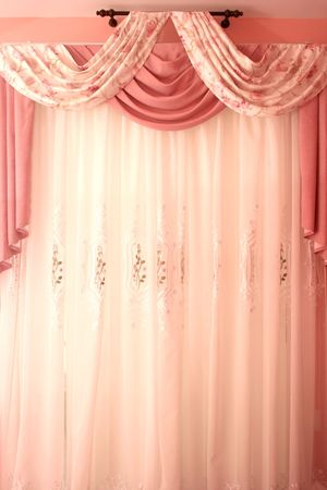 Picture of luxurious curtains at home.