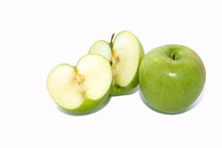 Green apples isolated on white background. Stock Photo - 5017460