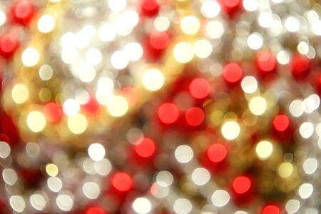 Christmas yellow,red,white lights  background. Stock Photo - 5464946