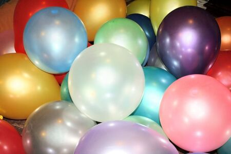 multy: Multy colored balloons on the floor.