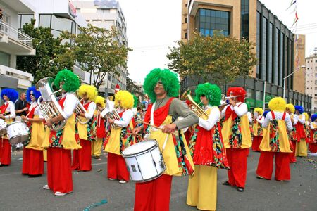orchestrate: LIMASSOL,CYPRUS-MARCH 9:Unidentified  people in Cyprus carnival parade, MARCH 9, 2008 in Limassol,Cyprus.