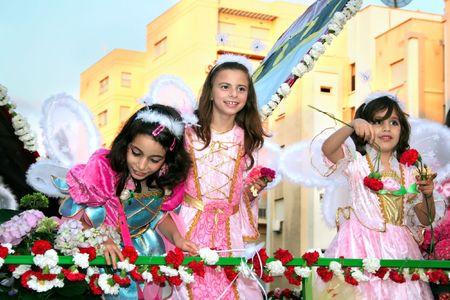 limassol: LIMASSOL,CYPRUS-MAY 10:Unidentified children  in Cyprus flowers festival, MAY 10, 2009 in Limassol,Cyprus.