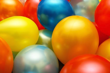 multy: Multy colored balloons together. Stock Photo