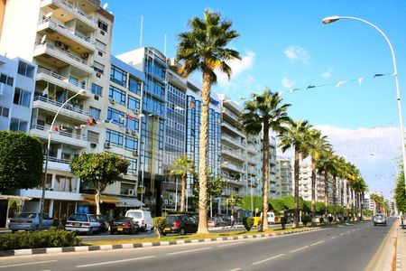 Street in Limassol, Cyprus.