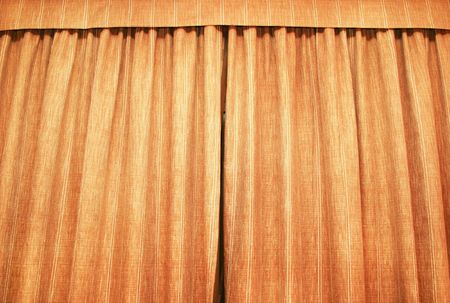 Brown curtains as a background. photo