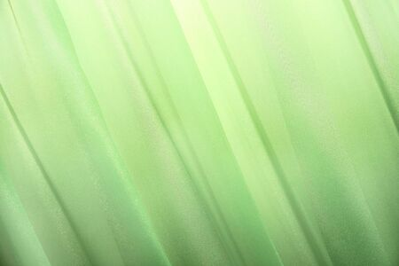 Picture of luxurious green curtains. photo