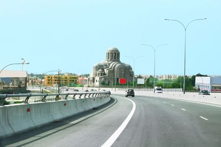 limassol: Road in Limassol, Cyprus.