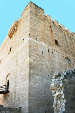 Kolossi Castle,strategic important fort of Medieval Cyprus,fine example of military architecture,originally built in 1210 by Frankish military,rebuilt in 1454 by the Hospitallers. photo