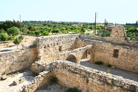 rebuilt: Kolossi Castle,strategic important fort of Medieval Cyprus,fine example of military architecture,originally built in 1210 by Frankish military,rebuilt in 1454 by the Hospitallers.