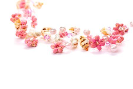 perls: Necklace  isolated on white background.